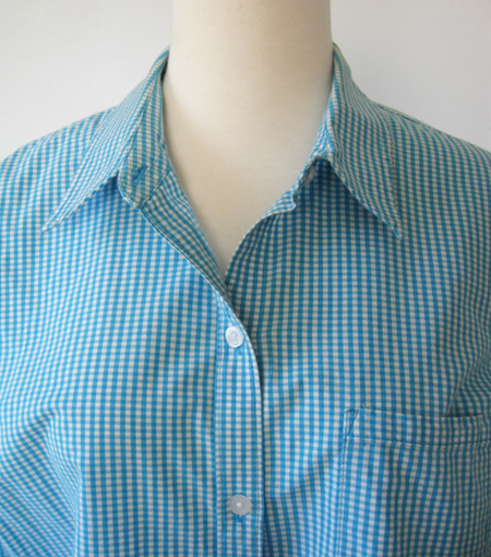 gingham shirt with placket