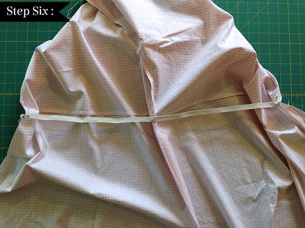 adding elastic waist to shirt dress