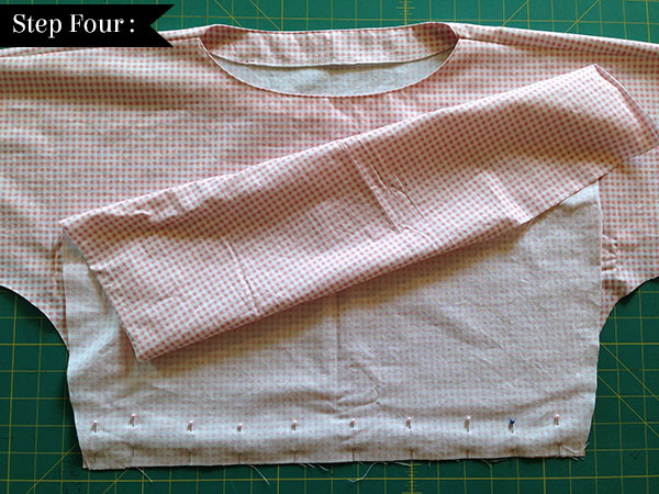 stitch skirt section of a dress