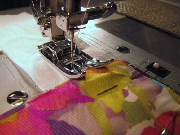 sewing with tissue paper