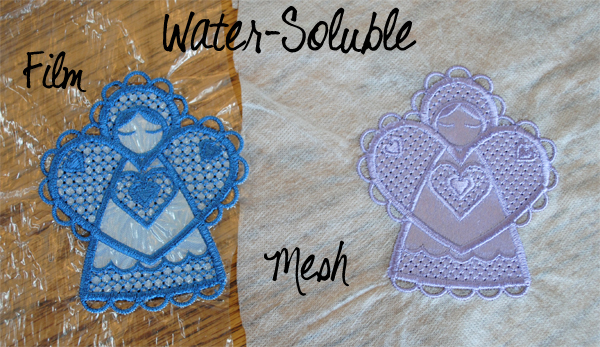 water soluble film mesh