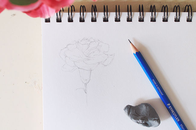 Drawing Flowers Step Three