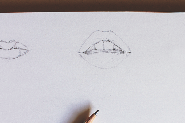 Drawing an Open Mouth