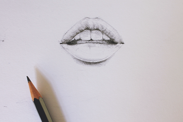 Drawing a Mouth Step 4