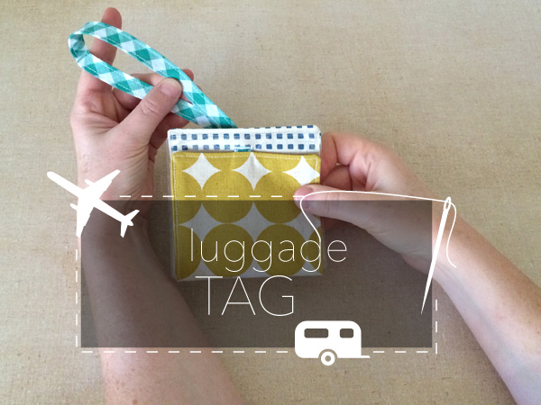 how to sew a luggage tag
