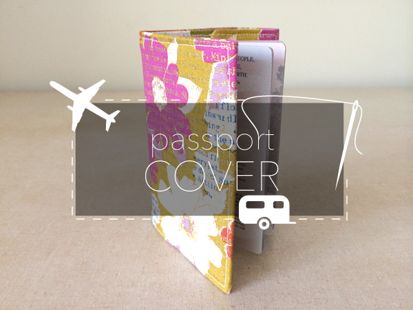 how to sew a passport cover
