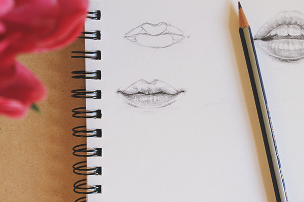 Drawing a relaxed mouth step 3