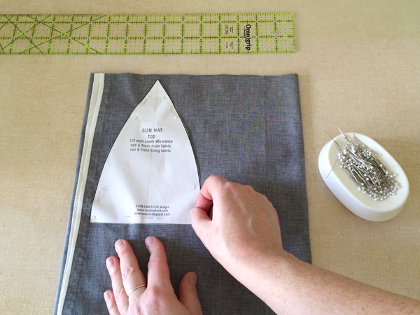 pin the lining to fabric