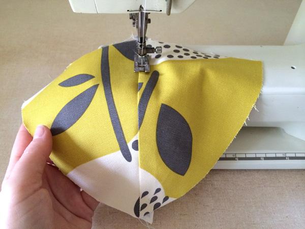top stitch the seam