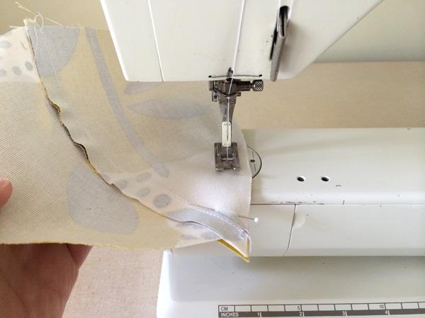 sew third panel