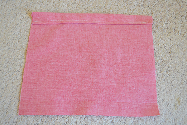 Pink fabric lining