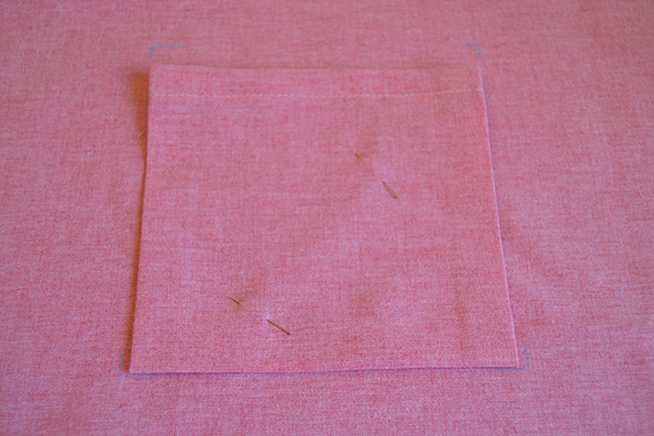 pinning inside tote bag pocket