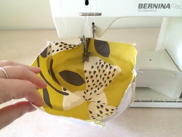 top stitch the top sam