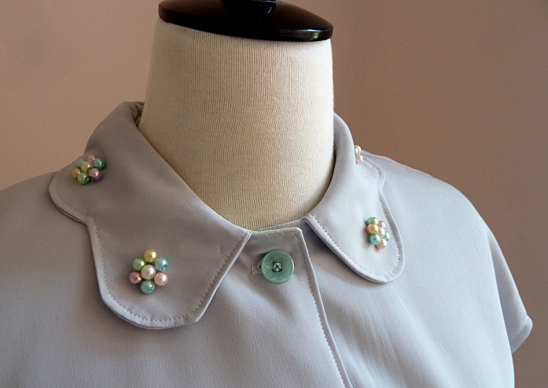 Close up of an embellished collar