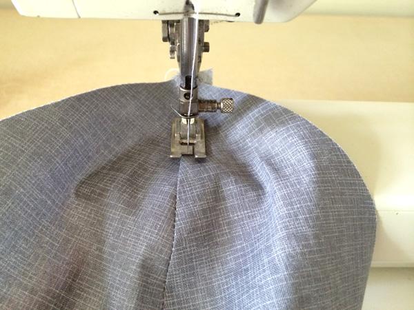 top stitch lining seam