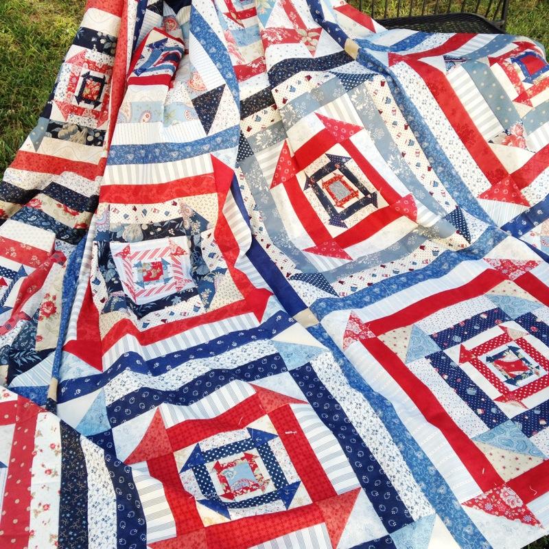 Patriotic quilt design