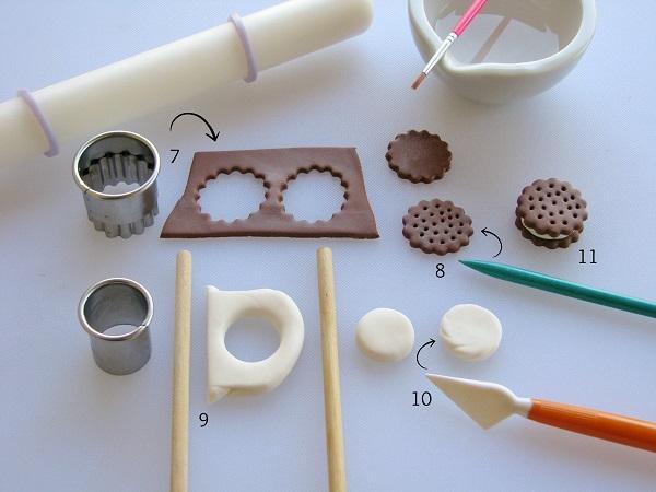 Fondant Ice Cream Sandwich tutorial step 2