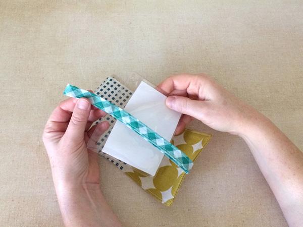 thread bias tape through plastic