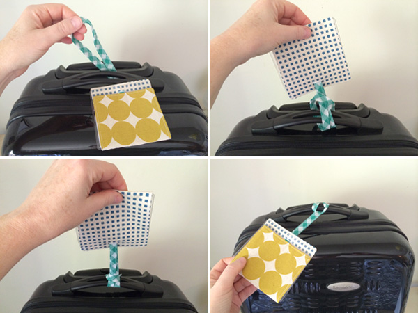 attach the tag to your luggage