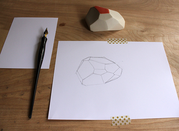 pencil outline of shape