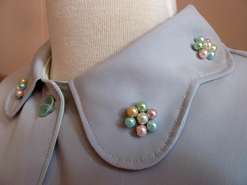 Close up of embellished collar