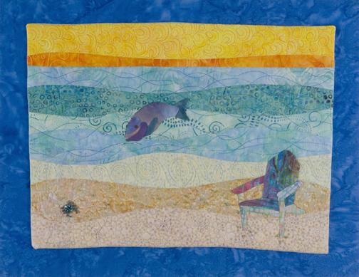 Landscape Art Quilt Beach Scene