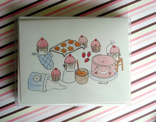 Boxed illustrated cards