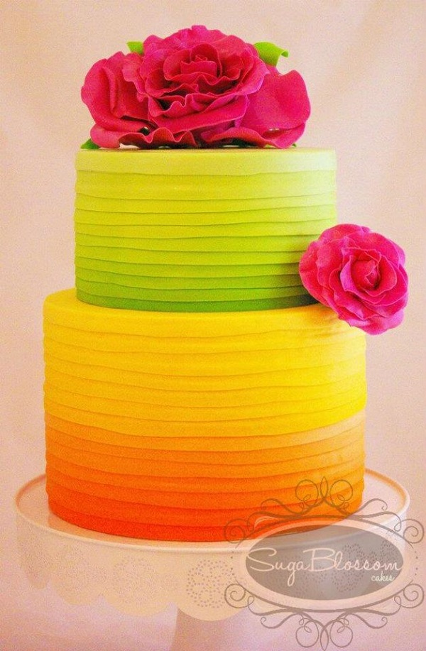 Neon Summer Wedding Cake