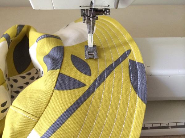 top stitch the whole rim