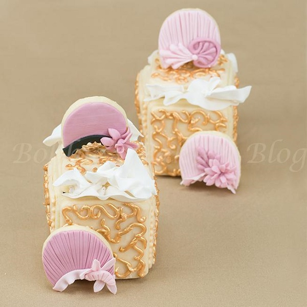 Filigree Hat Box Cookies