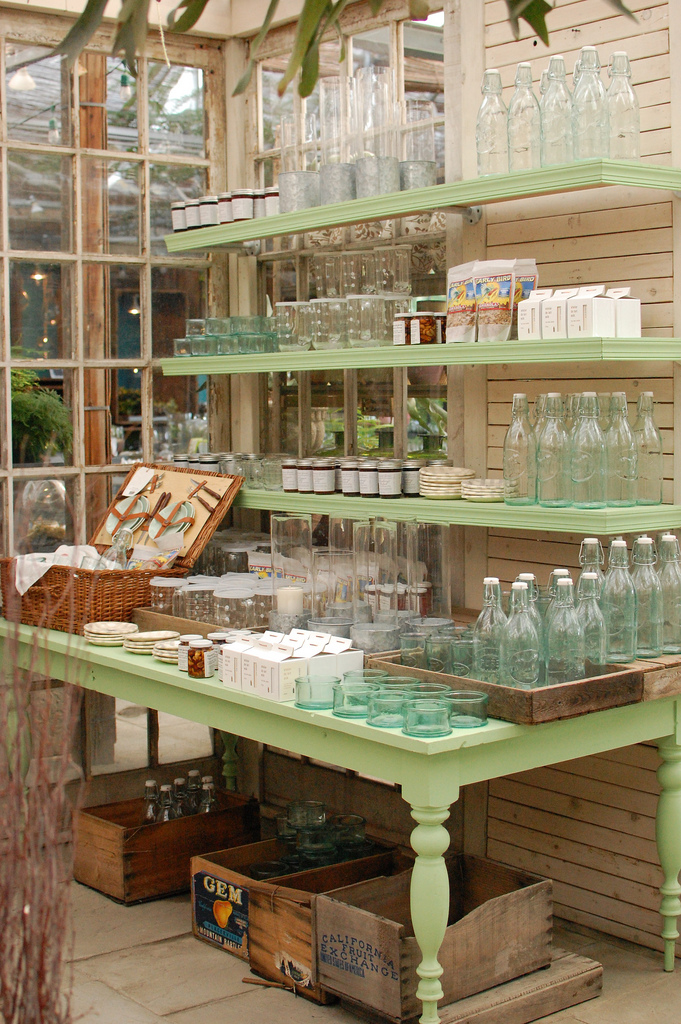 Glass Bottles on Display at Terrain