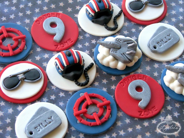 Top Gun cupcake toppers