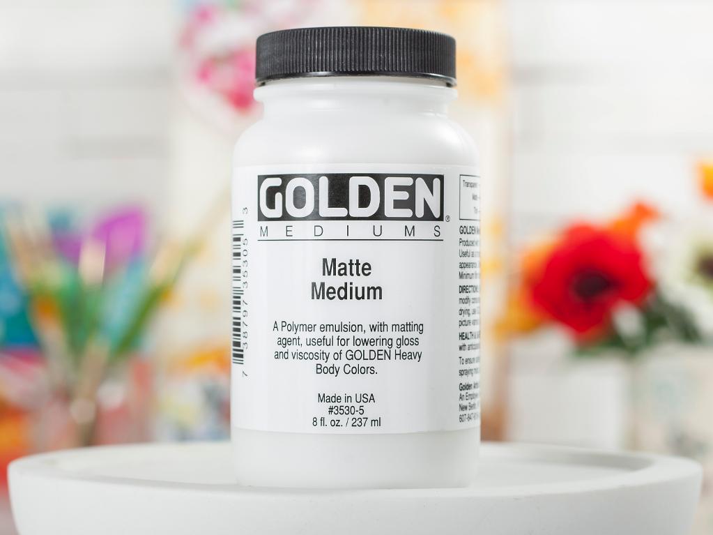 Golden Matte Medium on Craftsy