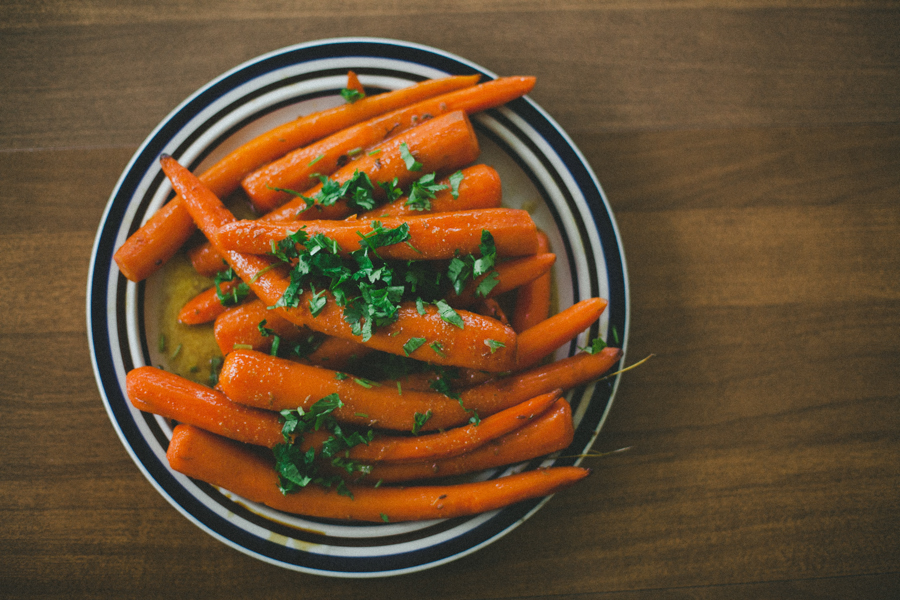 Steamed carrots