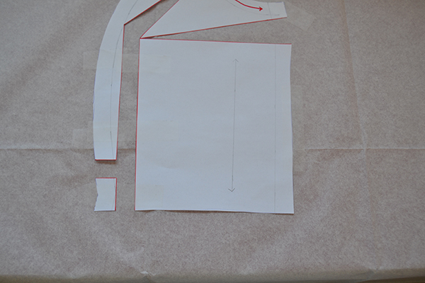 Cutting and piecing custom pattern piece