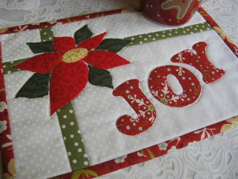 Christmas Joy Mug Rug Pattern