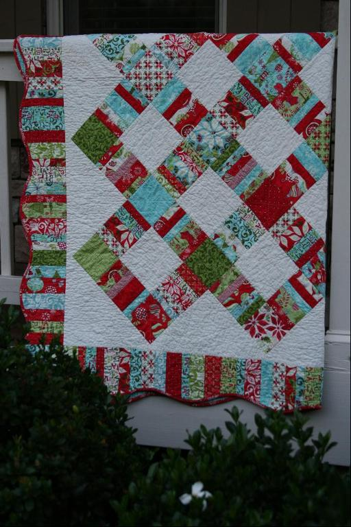 Beautiful scrap-busting quilt pattern on Bluprint!