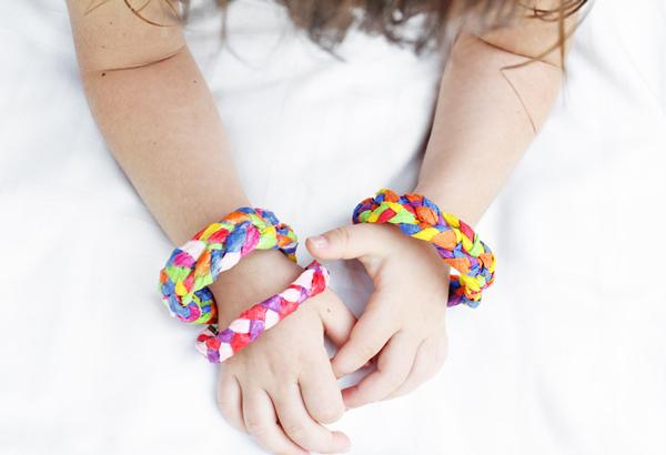 Braided Paper Bracelets