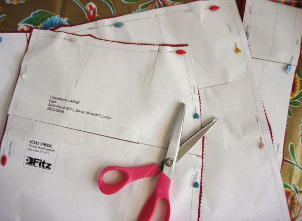 wrap skirt pattern layout