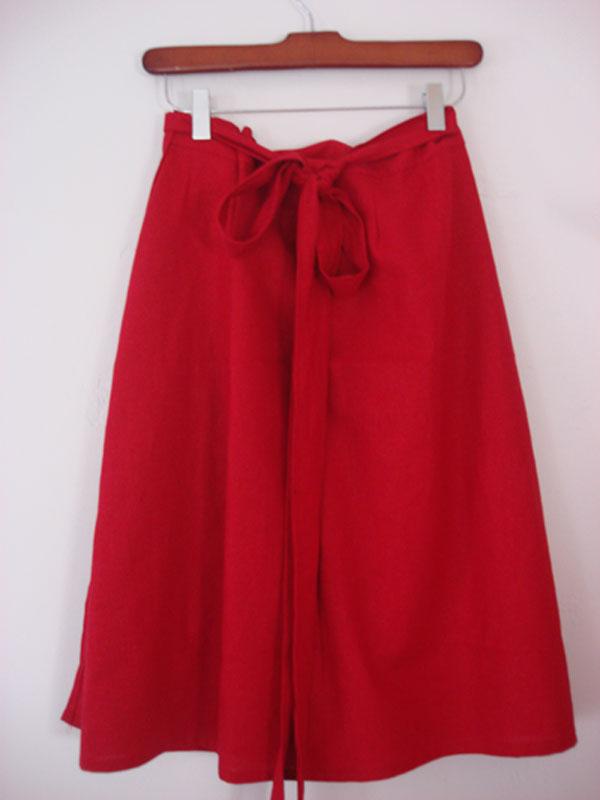 embroidered skirt back