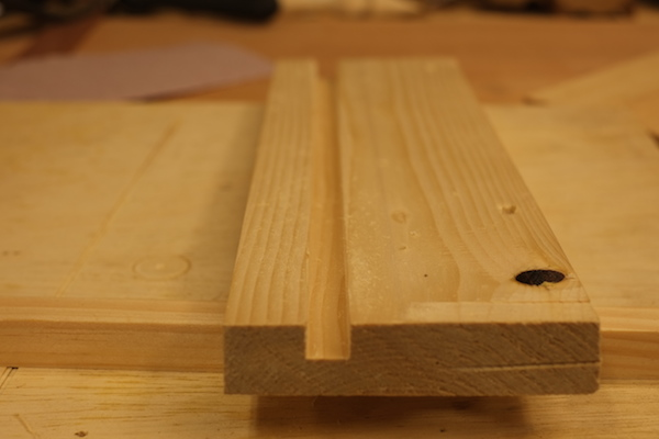 Cut Groove, Made with a Plow Plane