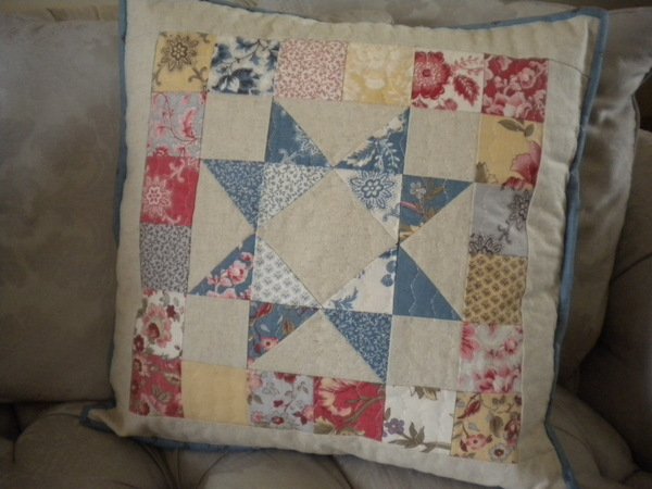 Scrappy + Patchy Pretty Patchwork Pillow