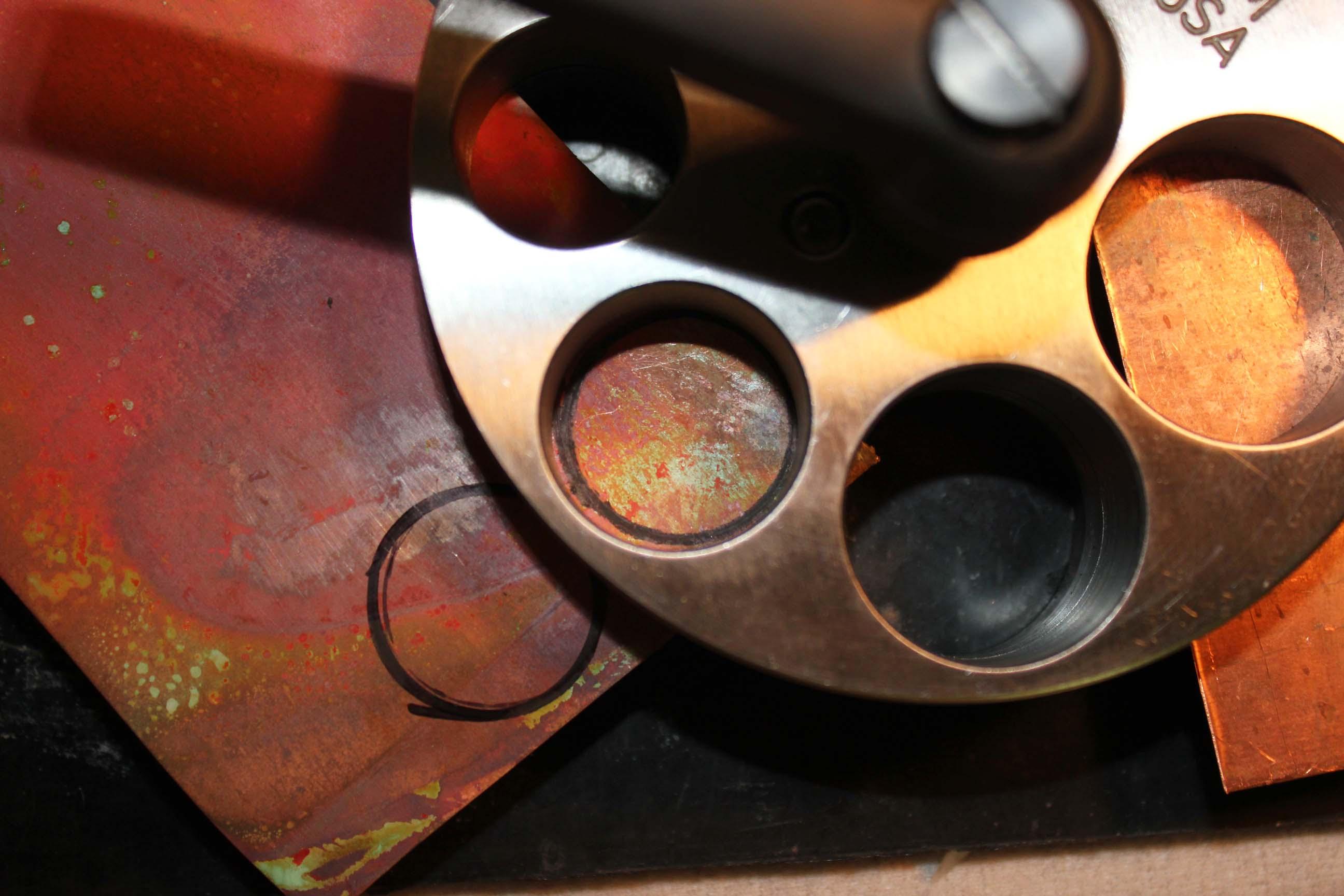 Insert sheet in between disc cutter plates