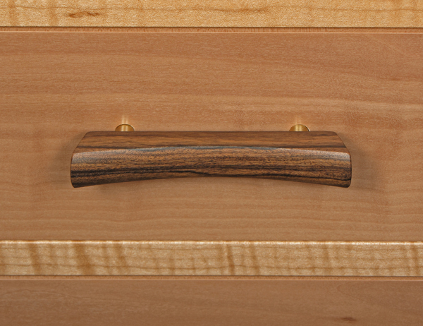 pear, maple, rosewood drawer front