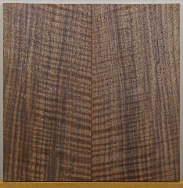 curly marbled Claro walnut bookmatch