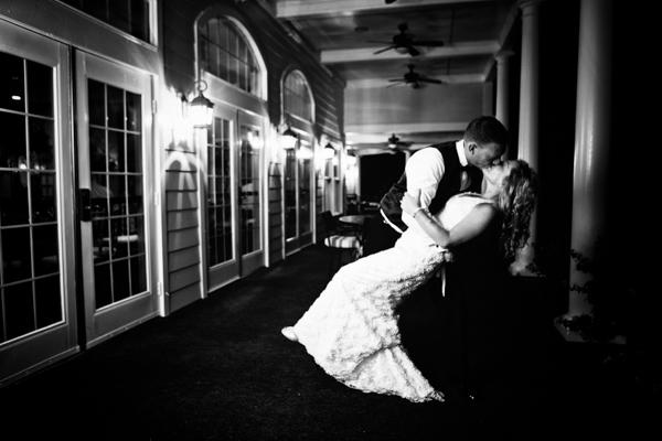 Wedding portrait in low light