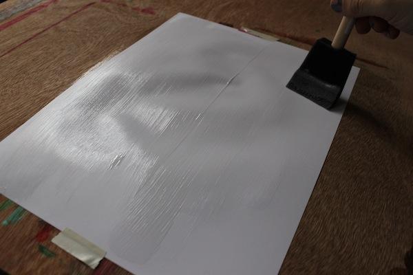 Painting with matte medium