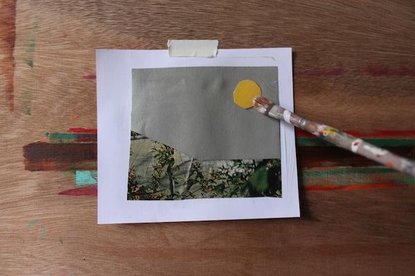 Collage with matte medium