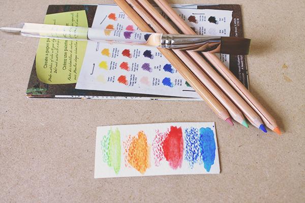 mixed media supplies pencils