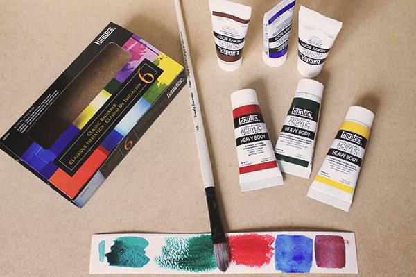 mixed media supplies acrylics